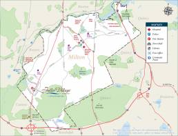 Map of Milton, MA