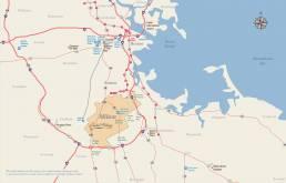 Milton regional map